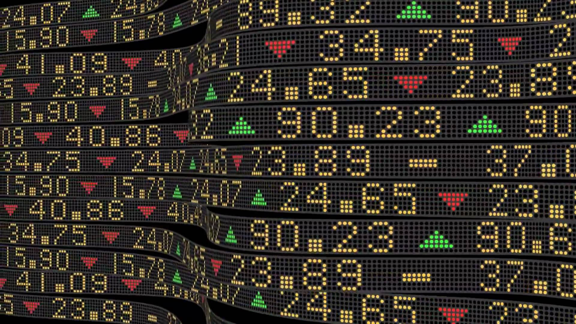 cannabis stock market ticker board